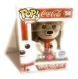 Funko POP! Iconos publicitarios: Coca-Cola Oso Polar [Flocked] #58 Edición Limitada Exclusiva Incluido con PET Compatible con Protector Extra Aparejado de 50 mm