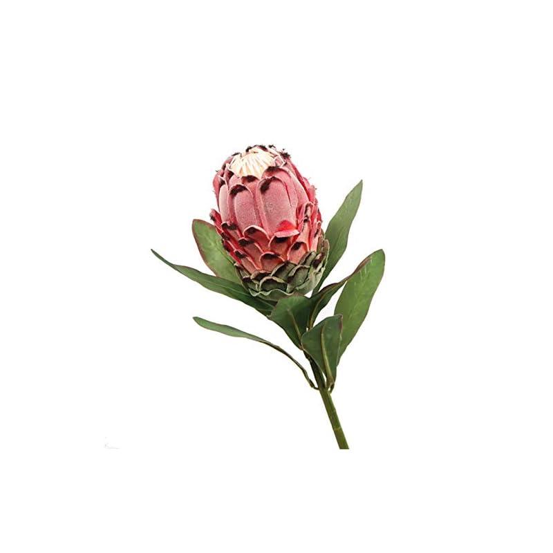 silk flower arrangements mggsndi artificial flowers, fake flowers, protea cynaroides flower plant diy garden party wedding decor - red