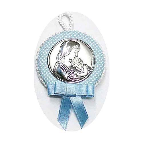 Medallón cuna carrito bebe azul