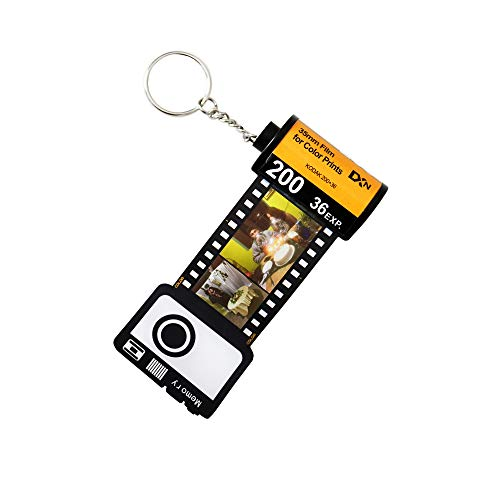 Zakally Personalized Custom Camera Film Roll Keychain Customized Multi Photo Picture Keychain Album Gift for Lover (5Photos)