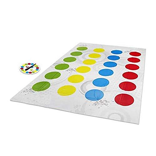 Twister Game Mat - Tapis de jeu Twister plus grand avec des taches colorées Train de flexibilité pour la fête, la famille, le jeu de fête pour enfants 6 ans