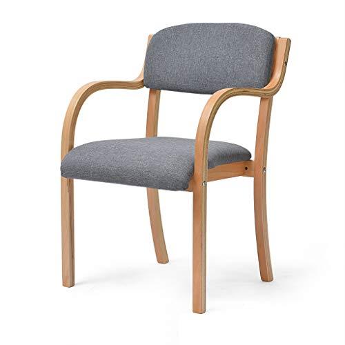 WRZ Nordic Effen Houten Grijze Eetstoel Moderne Minimalistische Home Computer Lounge Stoel Eettafel En Stoel Rugleuning Bureau Stoel