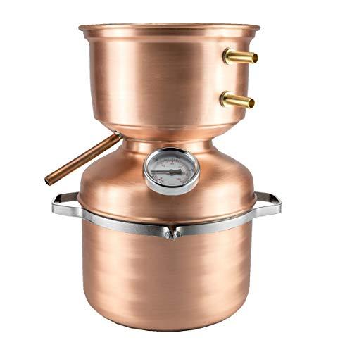 La Ramera Distillatore Alambicco da 5 Litri a Fungo per Grappa, Whisky, Brandy, ECC. …