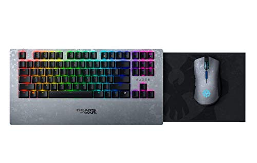 Razer Turret Wireless Mechanical Gaming Keyboard & Mouse Combo for PC & Xbox One: Chroma RGB/Dynamic Lighting - Retractable Magnetic Mouse Mat - 40hr Battery - Gears of War 5 Edition