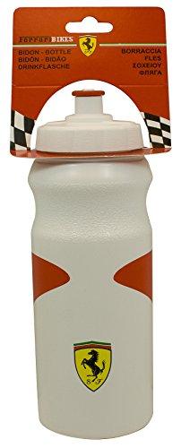 Ferrari Fahrrad Trinkflasche mit Halter Fahrradtrinkflasche, Rot/Weiß, 700ml
