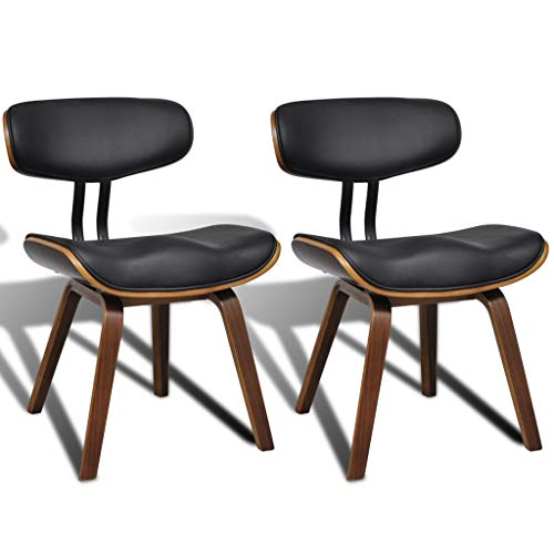 2x Esszimmerstuhl Essstuhl Küchenmöbel Stuhl Bugholz und Kunstleder