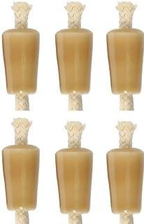 Wine Bottle Candle, Ceramic - Tan, Set of 6