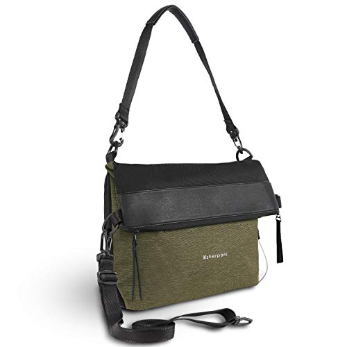 Sherpani Vale, Anti-Theft Crossbody Purse, Travel Tote Bag, Crossbody Purse Handbag, Crossbody Bag for Women, RFID Protection (Loden)