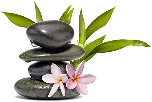 Adesivo, motivo zen con ciottoli e fiore, rif. 15225, 30x20cm