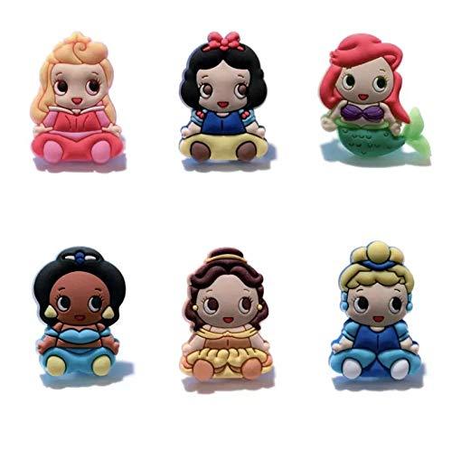 Miscela di 10 magneti per frigorifero Disney Princess.