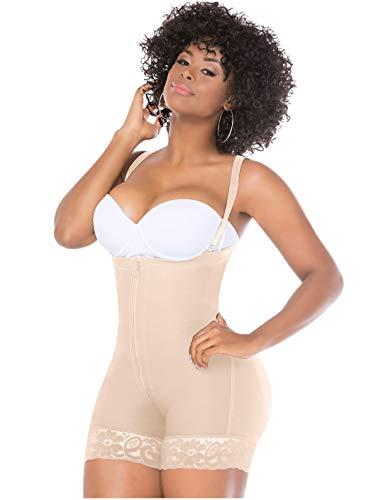 Fajas Salome 0214 Womens Body Shaper Strapless (L, BEIGE)