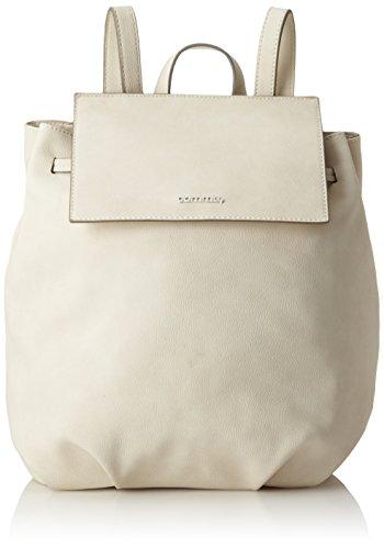 comma Damen Early Breeze Backpack Mvf Rucksackhandtasche, Weiß (Offwhite), 12x34x23 cm