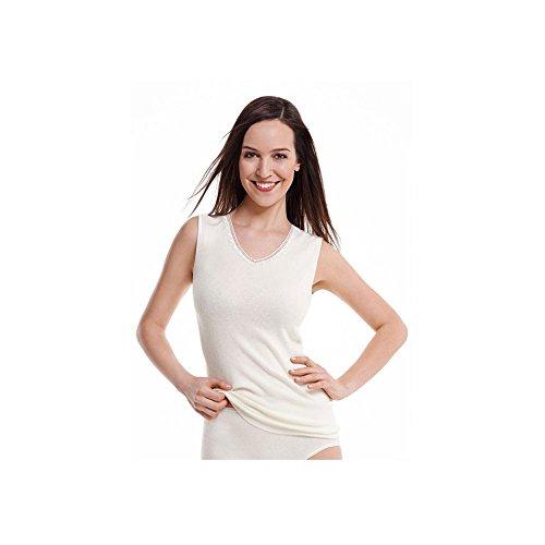 Medima Damen Unterhemd 40% Angora S weiß