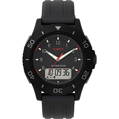 Timex Men's TW4B18200 Expedition Katmai Combo 40mm Black/Gray Resin Strap Watch