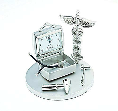Sanis Enterprises Doctor's Clock, 3.5-Inch, Silver