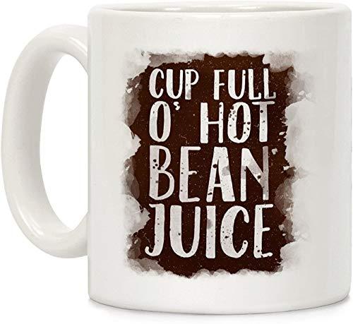 Koffie mok, Thee Beker, Beker Volledige O' Hot Bean Sap Wit 11 Ounce Keramische Koffie Mok