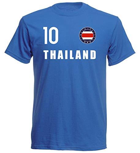 Nation Camiseta de Tailandia con escudo FH 10 BL azul M