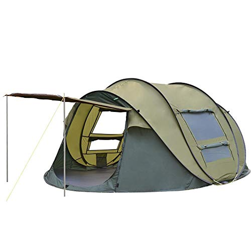 XTBB Outdoor Camping Tents 3-4 Person Automatic Pop Up Instant Tent Hiking Travelling Tourist Fishing Beach Tents Awnings Green