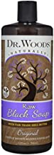 Dr. Woods African Raw Black Vegan Liquid Body Wash with Organic Shea Butter, 32 Ounce