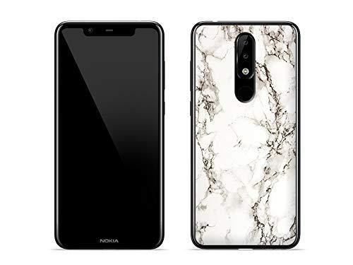 etuo Handyhülle für Nokia 5.1 Plus - Hülle Fantastic Hülle - Weißer Marmor - Handyhülle Schutzhülle Etui Hülle Cover Tasche für Handy