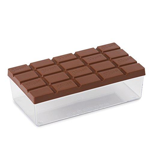 Snips 000950 Salva Contenitore per Cioccolato e cioccolatini, Trasparente, Tappo Personalizzato Marrone, 45 x 32 x 0,5 cm