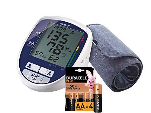 Visomat Comfort Form ITA + 4 Pile AA Duracell Plus - Sfigmamometro...