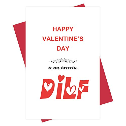 Naughty Happy Valentine's Day Card for Boyfriend, Funny DILF Card for Husband Him, To My Favorite
