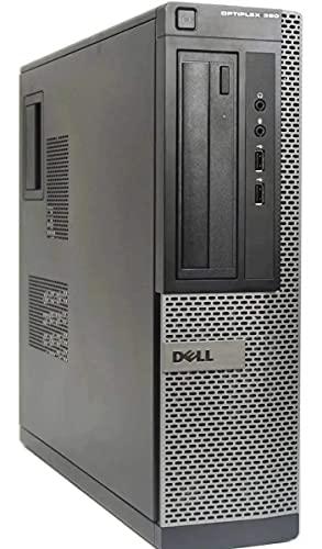 Dell Optiplex 390 PC de sobremesa - Intel Core i3-2120 3,3 GHz 4GB 250 GB DVD Windows 10 Pro (renovado) (Reacondicionado)