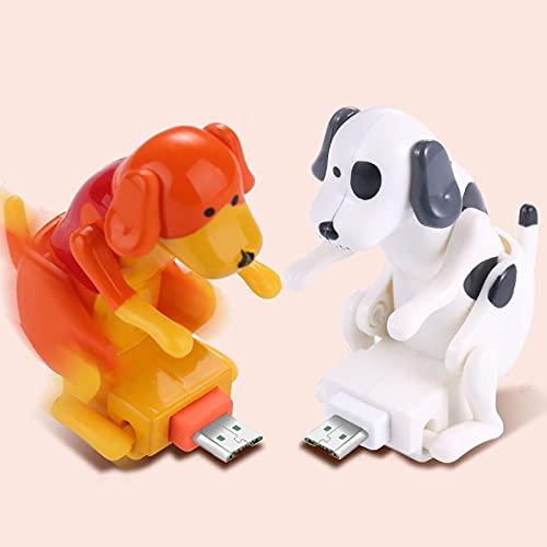 Shuliang Cable de cargador USB creativo divertido para perro jorobado,Cable de carga rápida de diseño de perro portátil,Adecuado para varios modelos de teléfonos móviles tipo C portátiles