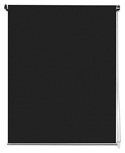 Aufrollbare estoronline Duschvorhang Polyester und PVC Europäisch 105x100x180 cm Schwarz