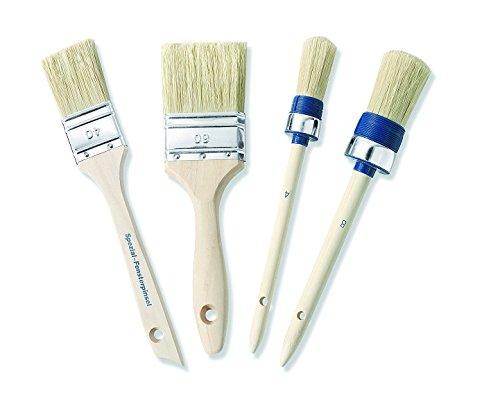 Color Expert 82661410 Lot Promo Complet de 4 Brosses Spécial Acrylique