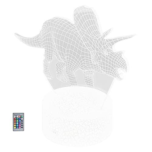 BOLORAMO Lámpara De Dinosaurio, Función De Atenuación Vívida, Múltiples Modos, Luz De Dinosaurio, Iluminación Suave para Sala De Estar para El Hogar