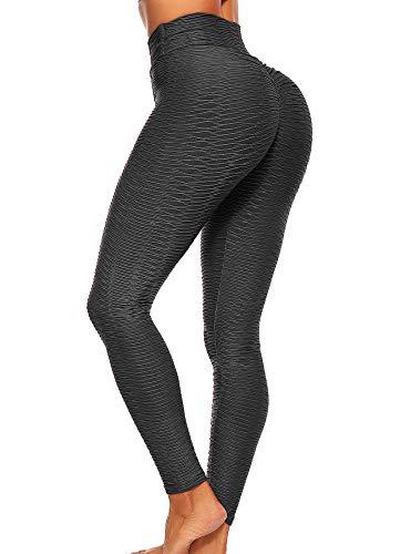 INSTINNCT Damen Slim Fit Hohe Taille Sportshort Lange Leggings mit Bauchkontrolle #1 Schwarz S