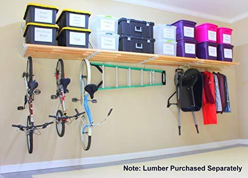 DIY Rhino Shelf Universal Garage Shelves (16 Foot Length, 33.5' Deep) - Commercial Grade, Structural Kits for Handymen