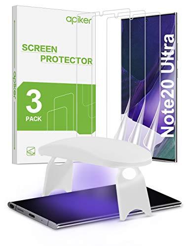 [3 Stück] apiker Schutzfolie für Samsung Galaxy Note 20 Ultra mit UV Lampe, Samsung Galaxy Note 20 Ultra Bildschirmschutzfolie, [Anti-Kratzen], [Anti-Bläschen], [Hohe Definition], [Hohe Empfindlichkeit]
