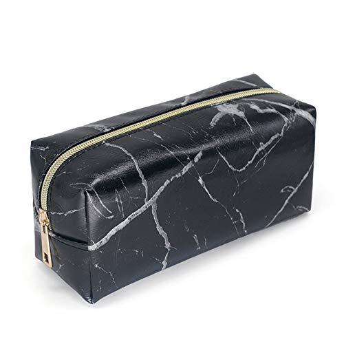 MoGist Trousse de Toilette Sac de Rangement Imperméable Sac de Voyage Maquillage Sac à Main Étanche PVC Noir 190 * 70 * 90mm