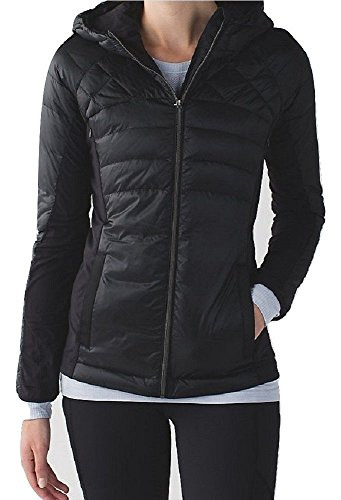 Lululemon Down for a Run Jacket 800 Fill Goose Down Puffer Black (10)