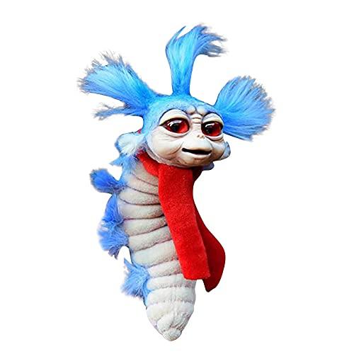 Plüschfiguren 2021 New Worm From Labyrinth 6 Zoll Labyrinth The Worm Qualität Plüschtier Handgefertigtes Künstlerpuppengeschenk lustiges Labyrinth Firey Plüschtier für Kuscheltier Maze of Dekorationen