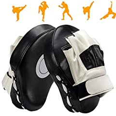 Great Exercise Activity:Versatile and easy to transport, focus mitts can help you quickly develop excellent punching and defensive skills. If you want to improve your footwork, accuracy and timing or simply want to get in a good workout, these boxing...