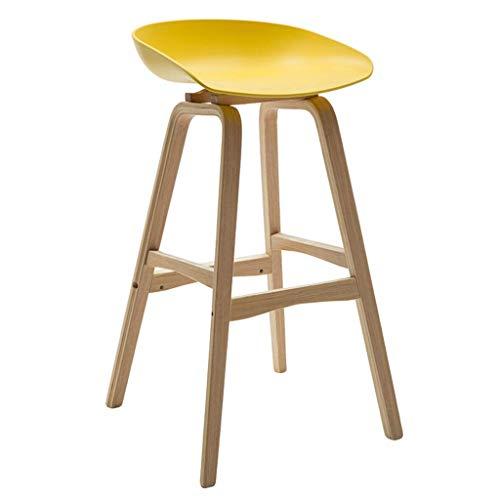 YLCJ Barkruk eenvoudige Europese massief houten barstoel mode creatieve barkruk statafel en stoel recept hoge kruk geel voor keuken | Pub | CAF; (kleur zwart) zwart