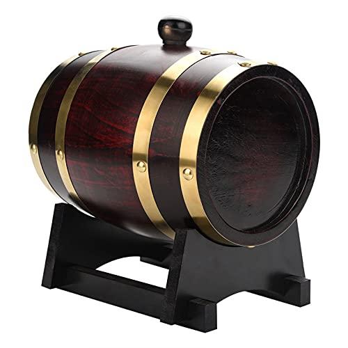lyrlody Almacenamiento de Vino, Almacenamiento de Alcohol de Vino Barril de Roble de 1.5L para Salsa Picante para Whisky para oporto