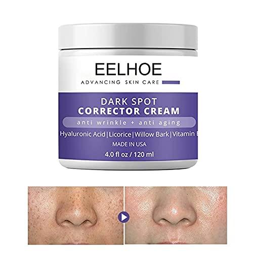 Crema hidratante antifreckle y antiarrugas, para pieles secas y mixtas, 120 ml
