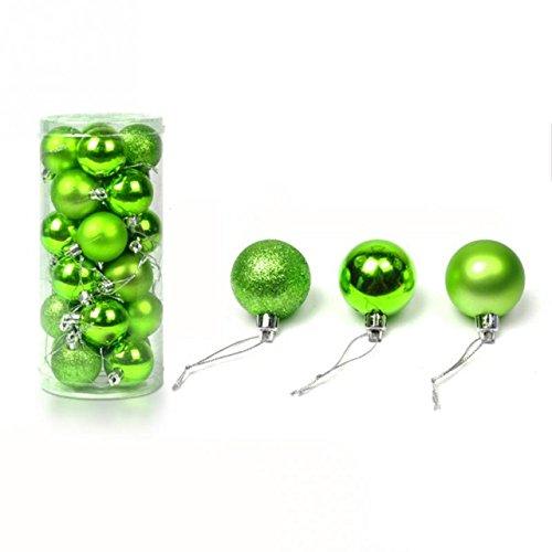 Juego de 24 bolas de 4 cm para decoración del árbol de Navidad