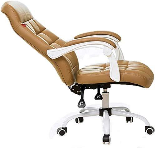 Comfortabele bureaustoel hometrainer stoel zwart bureaustoel draaibare rugleuning kruk eenvoudige gamingstoel managerstoel zacht bruin