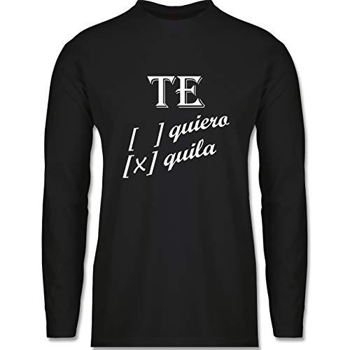 Shirtracer Statement - Te Quiero, Tequila - XXL - Schwarz - Ironie - BCTU005 - Herren Langarmshirt