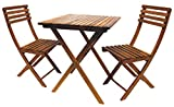 Leigh Country TX 36200 3 Pc Folding Bistro Set, Natural