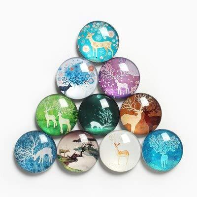 BLOUR 10 Kombinationsset Kleine frische Kunst Fan Kühlschrank Aufkleber Creative Cartoon Home Decoration Memo Nachricht Magnetic Sticker Glass Type