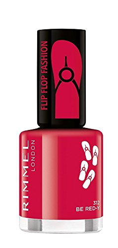 Rimmel London - Nagellack, Flip flop fashion, 312 BE RED Y, 8 ml