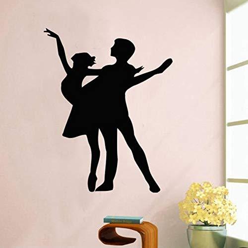 Zdklfm69 Adhesivos Pared Pegatinas de Pared Beauty Dancer Vinilo Bailarina decoración del hogar para niñas habitación Ballet Papel Pintado Impermeable para Dormitorio 73x57cm