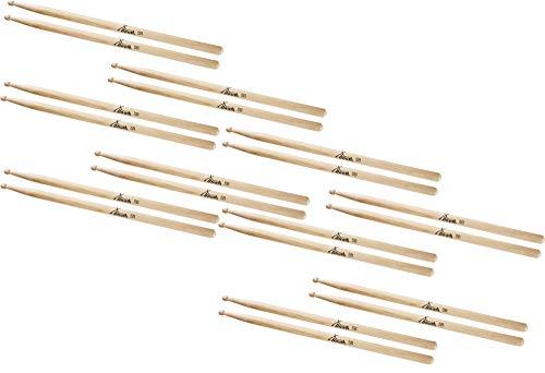 10 Paar XDrum Schlagzeug Sticks 5B Wood Tip (runder Holzkopf, Länge: ca. 405 mm)